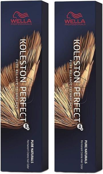 Wella Koleston Perfect ME+ KP Pure Naturals - Tinte para el cabello, 5/0, 2 unidades, color rubio claro