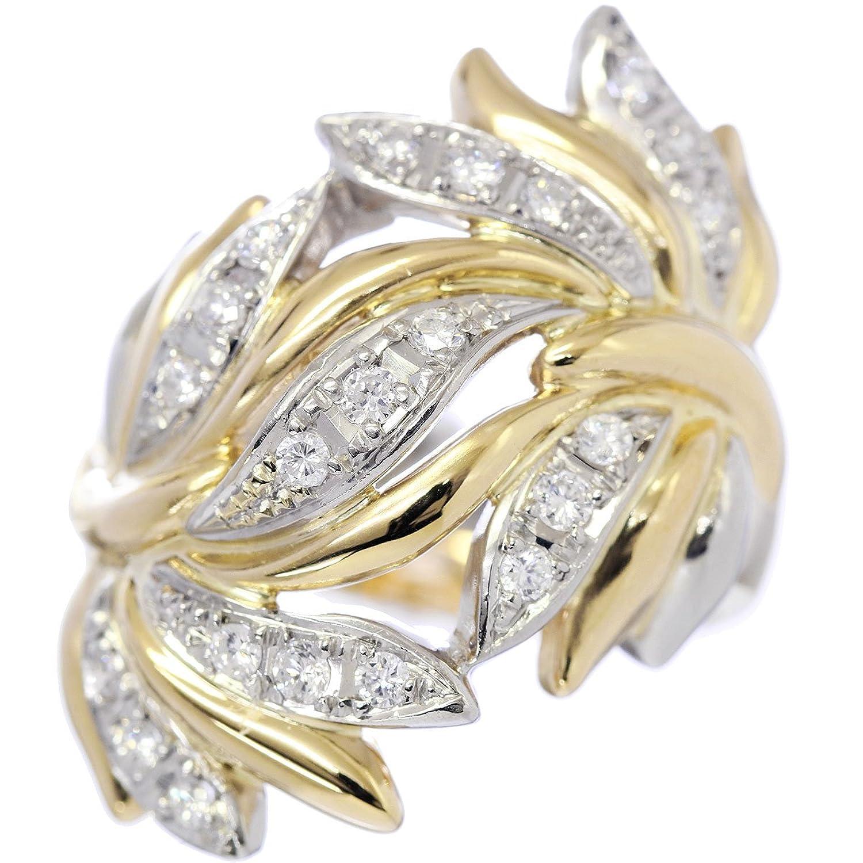 ダイヤ 0.43ct K18/Pt プラチナ リング 14号 18金イエローゴールド ダイア 指輪 【中古】 90049354 B07DFYYMLV