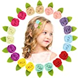 QtGirl Mini Felt Hair Clips Felt Flower Hair Accessories Non Slip Barrettes for Baby Girls Toddlers Kid Party Favor In…