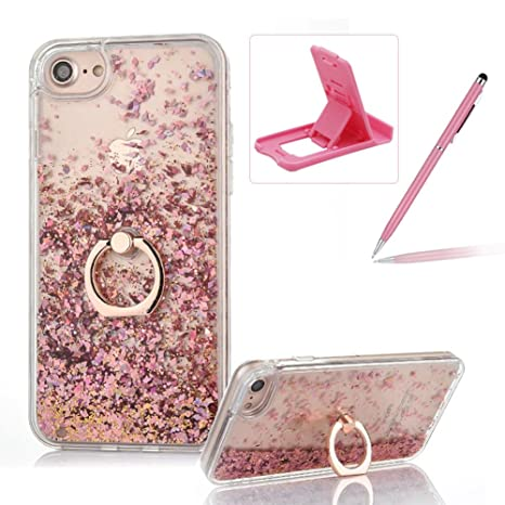 coque iphone 8 plus paillette rose
