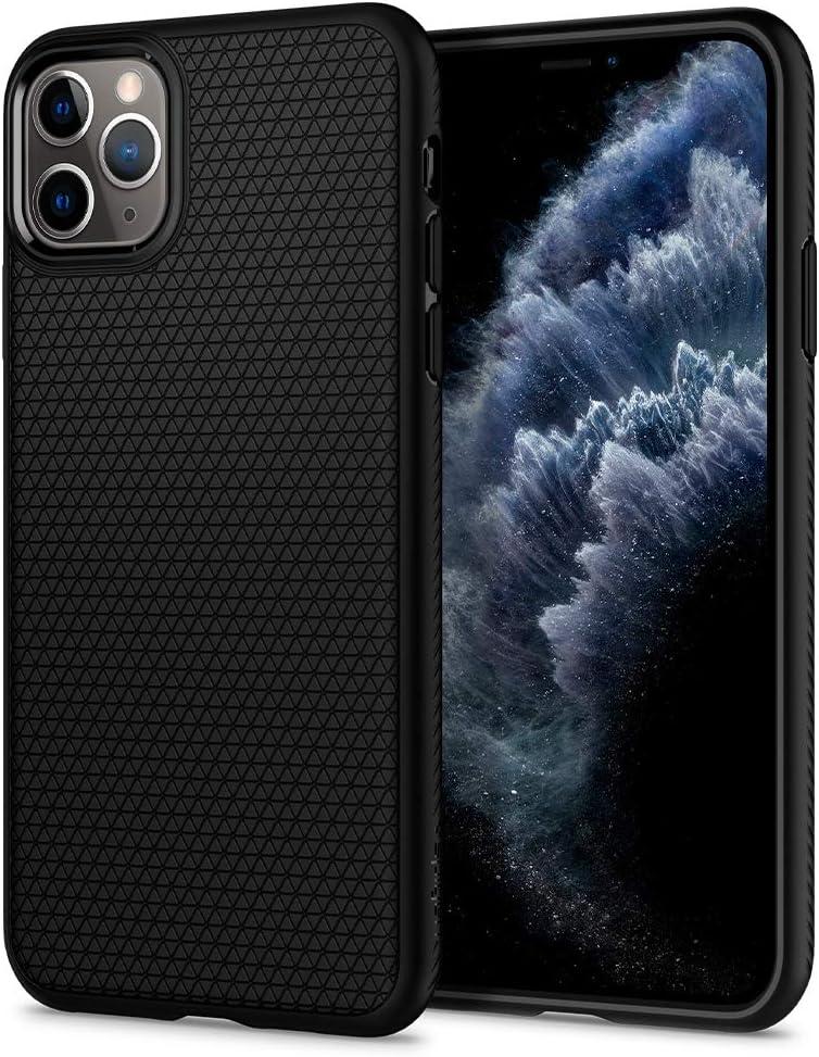 Spigen Liquid Air Works with Apple iPhone 11 Pro Max Case (2019) - Matte Black