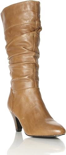 Dune Women's Rye Tan Mid Calf Boots