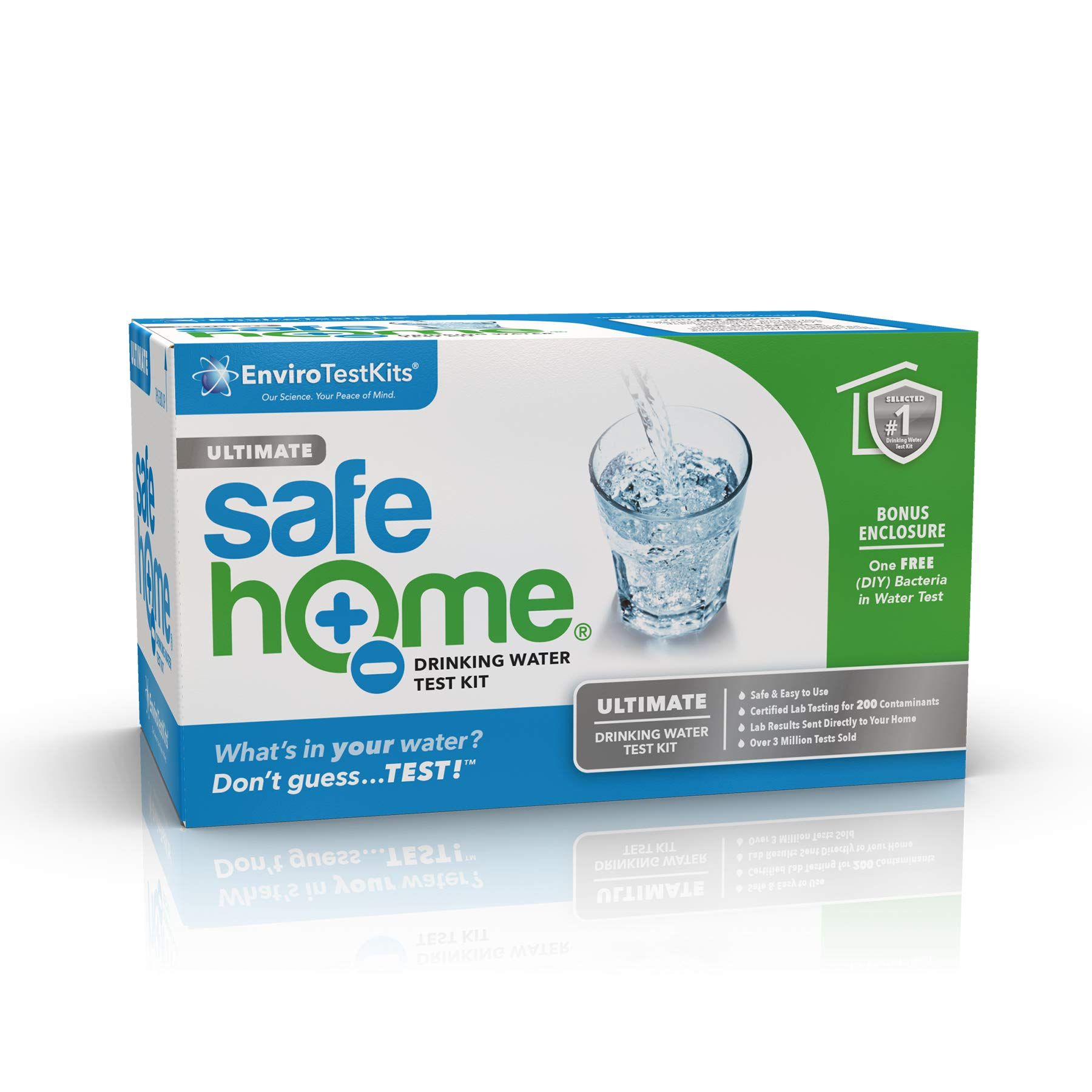 Safe Home ULTIMATE Drinking Water Test Kit - Our #1 Value for Testing CITY & WELL WATER - 200 Contaminants Tested at Our EPA Certified Laboratory - Don't Guess...TEST! by Safe Home