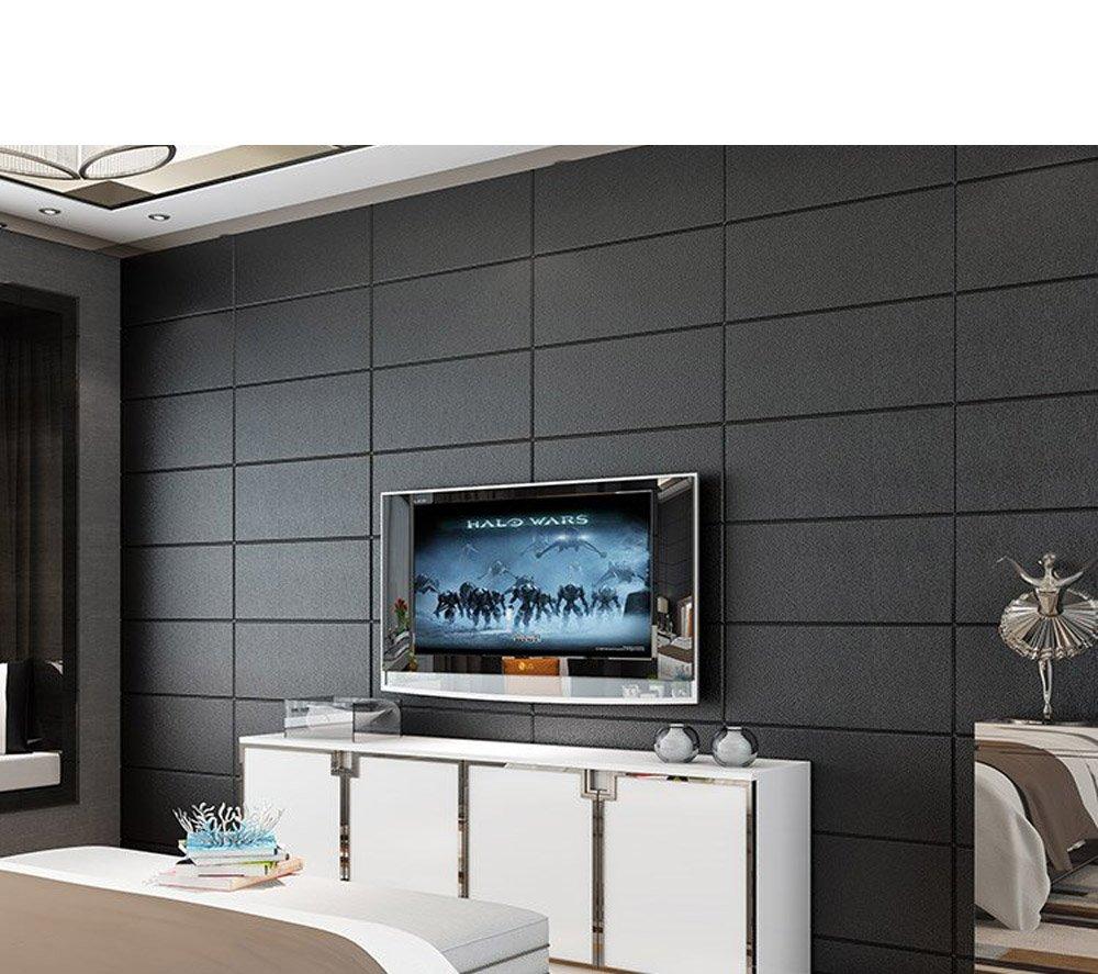 YETUGE 壁紙 木目リメイクシート 70cm×30cm 発泡スチロール 軽量レンガシール 壁紙シール アクセントクロス ウォールシール はがせる 壁シール B07C9RMGHF 四十枚 ブラック ブラック 四十枚