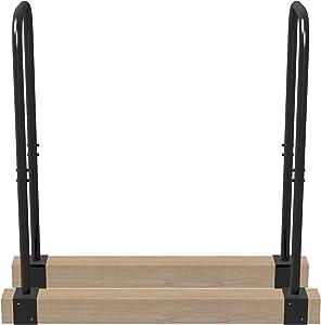 Landmann 82800 Lumberjack Series Adjustable Log Rack, Black