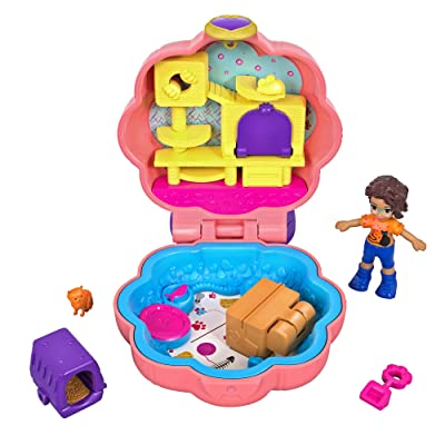 Polly Pocket Purrfect Playhouse, Multicolor: Toys & Games