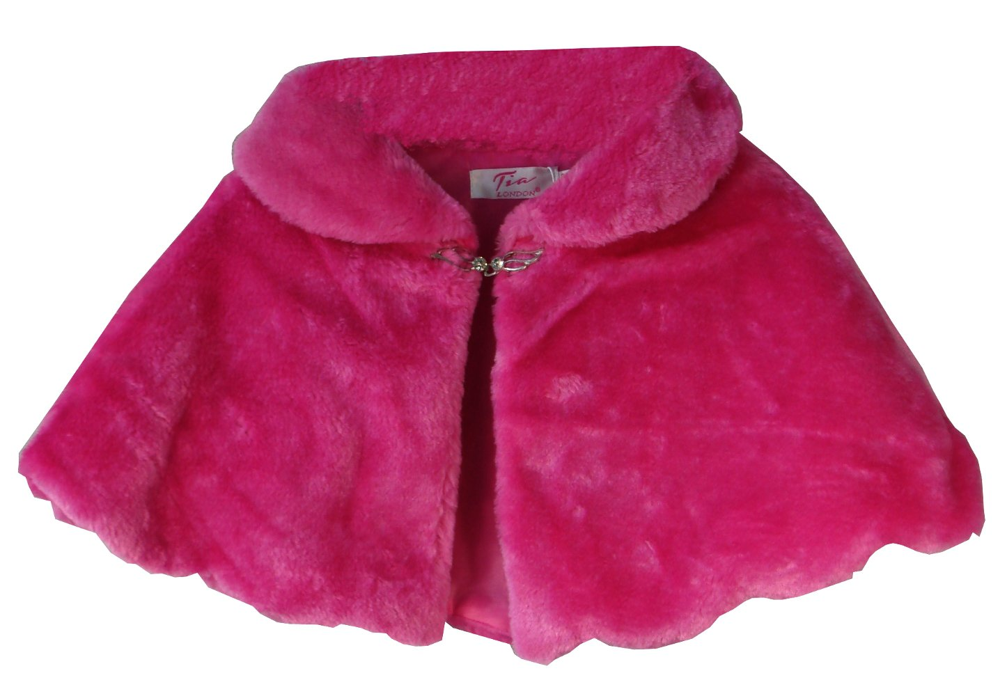 Aelstores. GIRLS FAUX FUR SHOULDER CAPE BRIDESMAID TIPPET BOLERO WRAP SHRUG 0-12