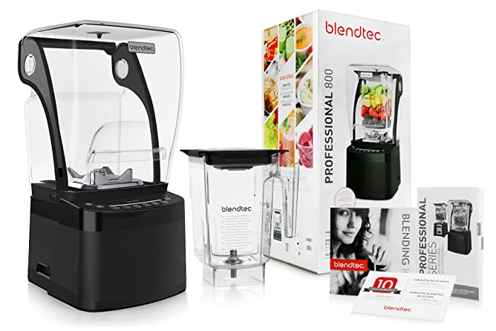 Blendtec Professional 800 Blender with BPA-Free WildSide Jar + Blending 101 Quick-Start Guide and Recipes + Owner's Manual and User Guide