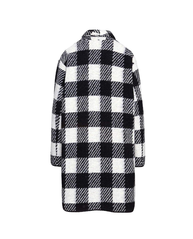 WOOLRICH Cappotto Ampio Ws Gentry Coat Bianco//Nero Poliestere Donna