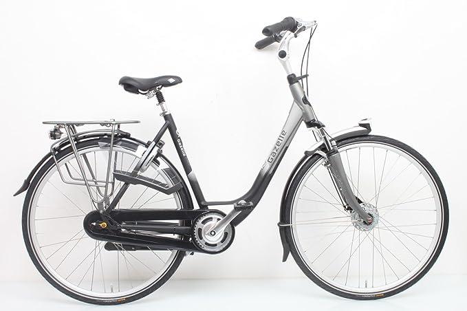 Gazelle Arroyo C7+ 2016 - Bicicleta urbana para mujer, color Negro , tamaño 49 cm, tamaño de rueda 28.0: Amazon.es: Deportes y aire libre