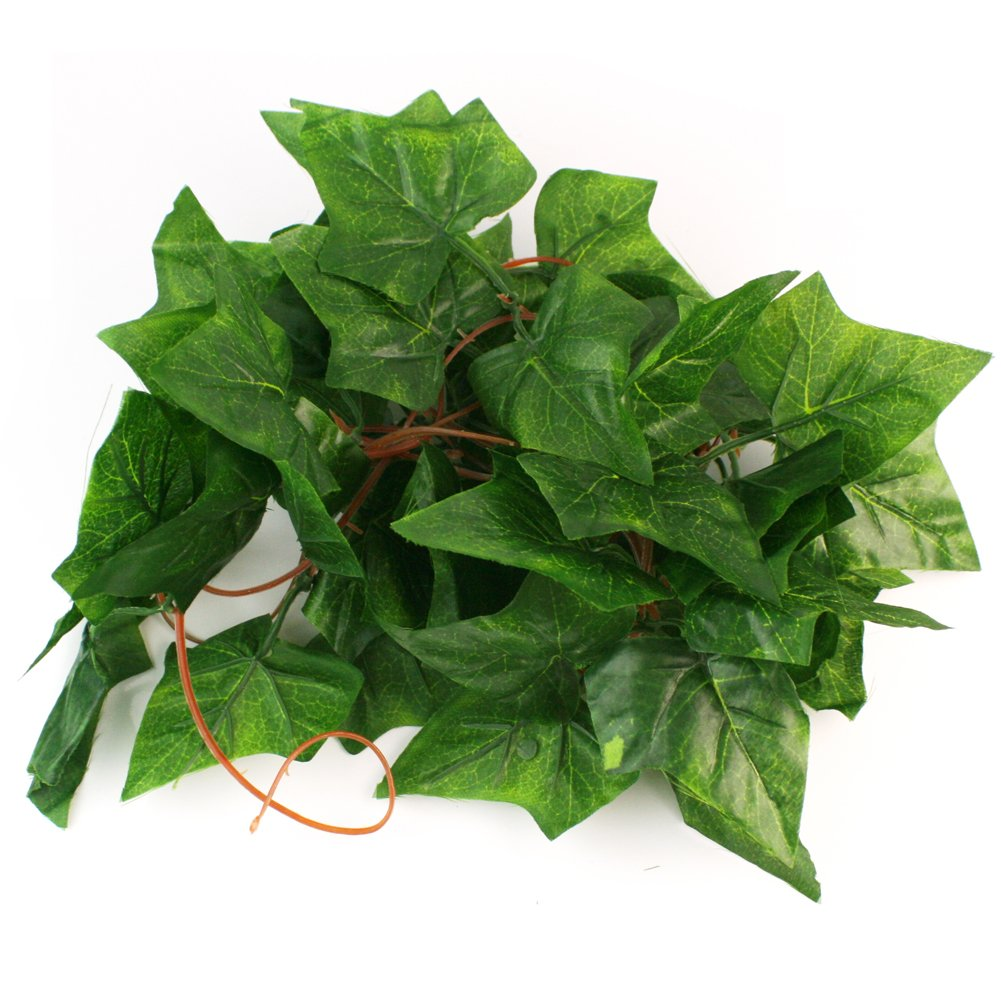 RHX Atificial Fake Hanging Plant Leaves Garland Home Garden Wall Decoration (9ft Artificial Ivy)