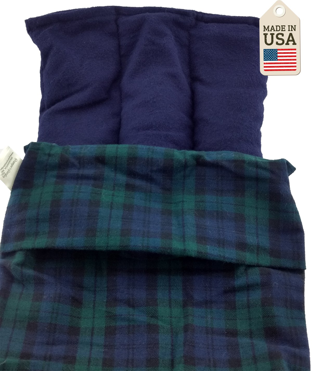 Lumbar Pac - The Lower Back Hot or Cold Pack - Black Watch Plaid by Grampa's Garden