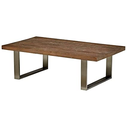 Rustic Cocktail Table Rectangular Wood Natural Finish Simple Minimal Low  Profile Stylish Coffee Table For Living