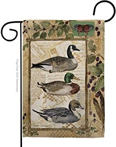 Breeze Decor Wildlife Ducks and Geese Garden Flag Animals Outdoor Deer Bear Wolf Pet Nature Farm Animal Creature Small Decorative Gift Yard House Banner Double-Sided Made in USA 13 X 18.5