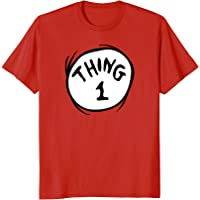 Dr. Seuss Thing 1 Emblem RED T-shirt
