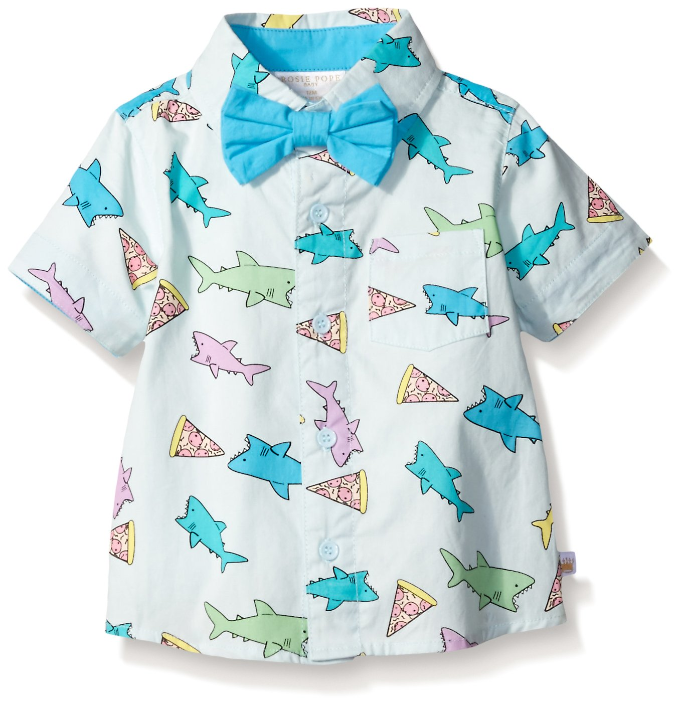 Rosie Pope Baby Boys' Dress Shirt, Light Blue, 18M by Rosie Pope (Image #1)