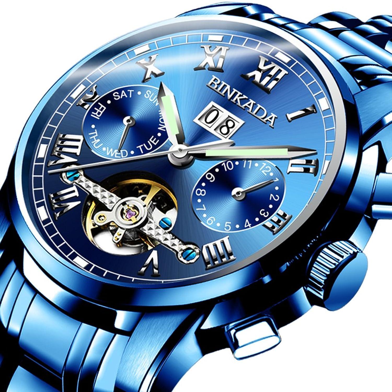 Skelett wasserdicht Herrenuhr-Automatische mechanische Uhren-Mann mit einer leuchtenden Uhr-I