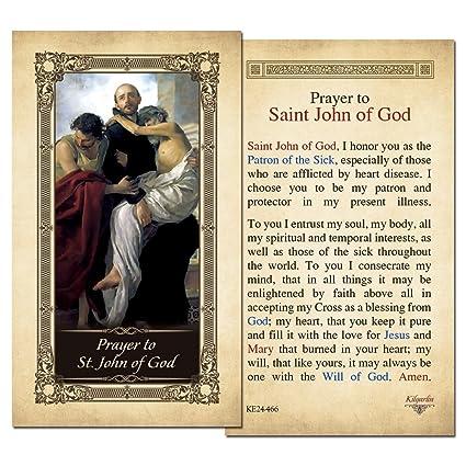 Amazon com : St  John of God Laminated Holy Card - Pack of 3