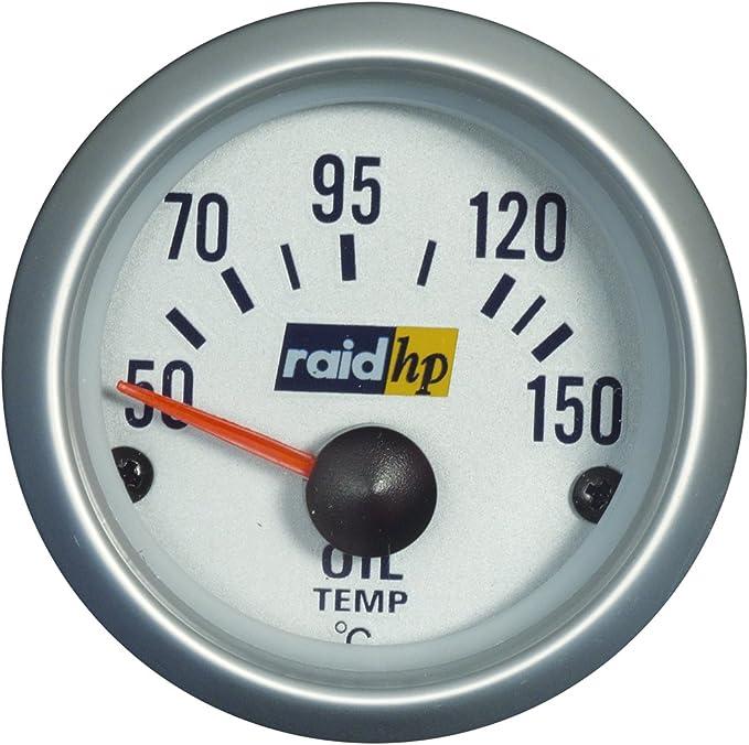 Raid Hp 660221 Öltemperaturanzeige Zusatzinstrument Silver Line Auto