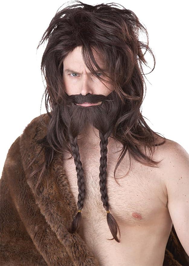 Beard /& Moustache Adult  Dirty Blonde Blond Viking Costume Wig
