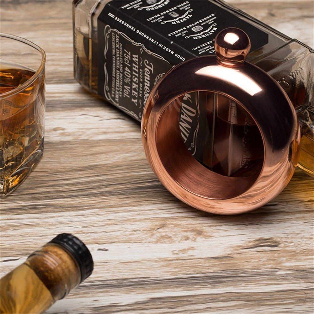 Creative Ring Bracelet Alcohol Hip Flask Funnel Bangle Bracelet Jewelry Gifts Wine Funnel Bangle CozofLuv 3.5oz Stainless Steel Jug Bracelet Gold
