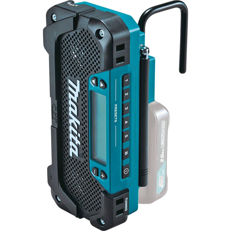 Makita RM02 12V max CXT Lithium-Ion Cordless Compact Job Site Radio ...