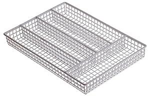 "Prepworks by Progressive Wire Flatware Caddy, White - 10"" x14"""