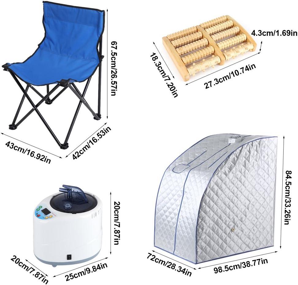 Th/érapie Corporelle S SMAUTOP Sauna /à Vapeur et Cabine Amincissement Tente de Sauna Pliable Isolante /à Quatre Couches et G/én/érateur de Vapeur de Sauna 2L 1000W pour Bain de Sauna D/étoxification