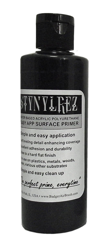 Badger Air-Brush SNR-403 Stynylrez Water Based Acrylic Polyurethane Surface Primer, 4-Ounce, Black Badger Air-Brush CO