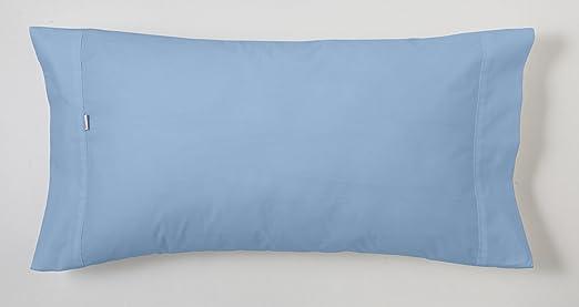 ESTELA - Funda de Almohada Combi Liso Color Azul Celeste - 1 Pieza ...