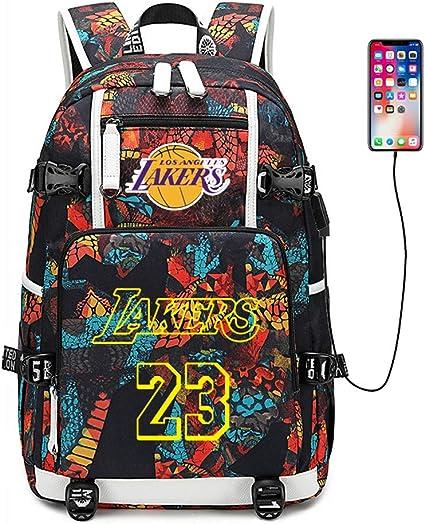 Lebron James 23 Basketball Fan School Bag Backpack Book Student Computer Fashion