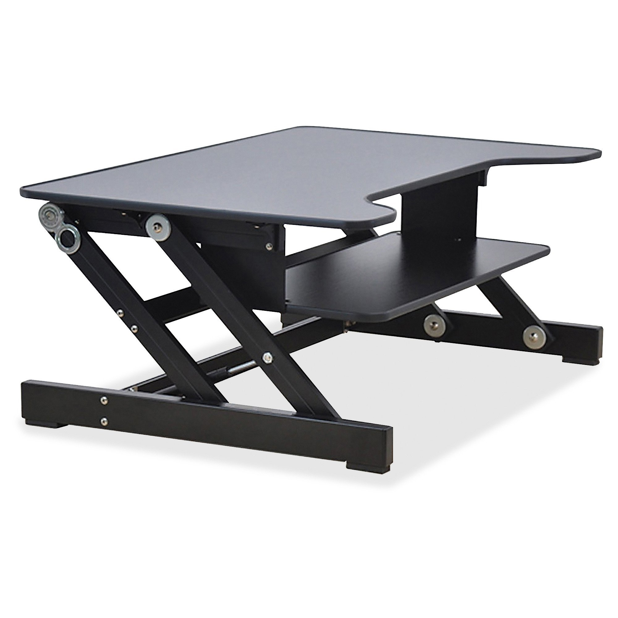 Lorell Sit-to-Stand monitor riser, black