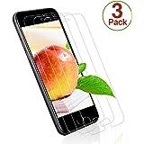 Verre Trempé pour iPhone 7 / iPhone 8, [3 Pièces] Protecteur d'Écran en Verre Trempé, 3D Touch Compatible et Dureté de 9H, Transparent et Clair, Installation Facile Sans Bulles pour iPhone 7 / 8