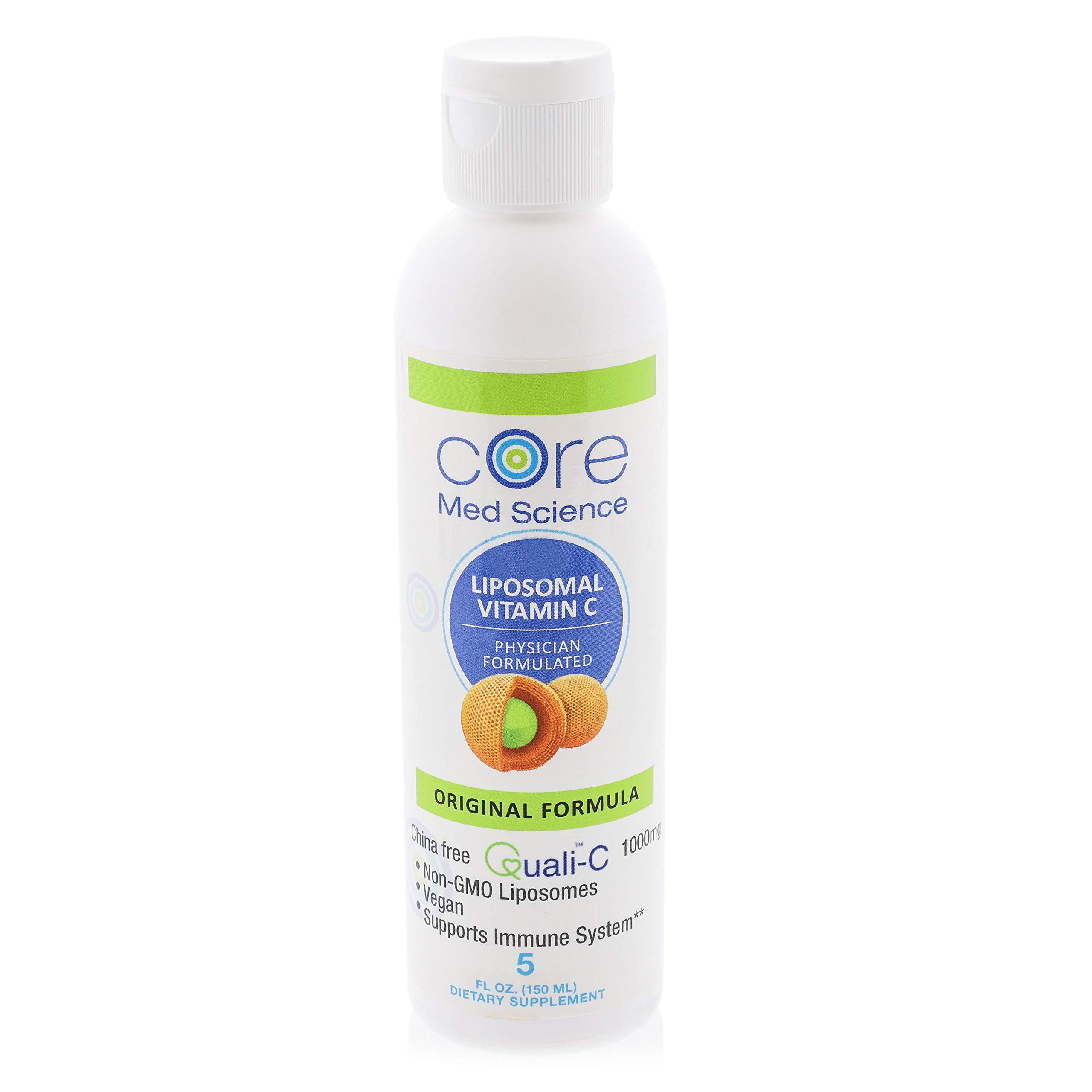 Optimized Liposomal Vitamin C 1000 mg Liquid | Original Orange Formula | Quali®-C Scottish Ascorbic Acid | China-Free| Highest Absorption | Immune Support | Non-GMO, Vegan, Organic 30 Servings