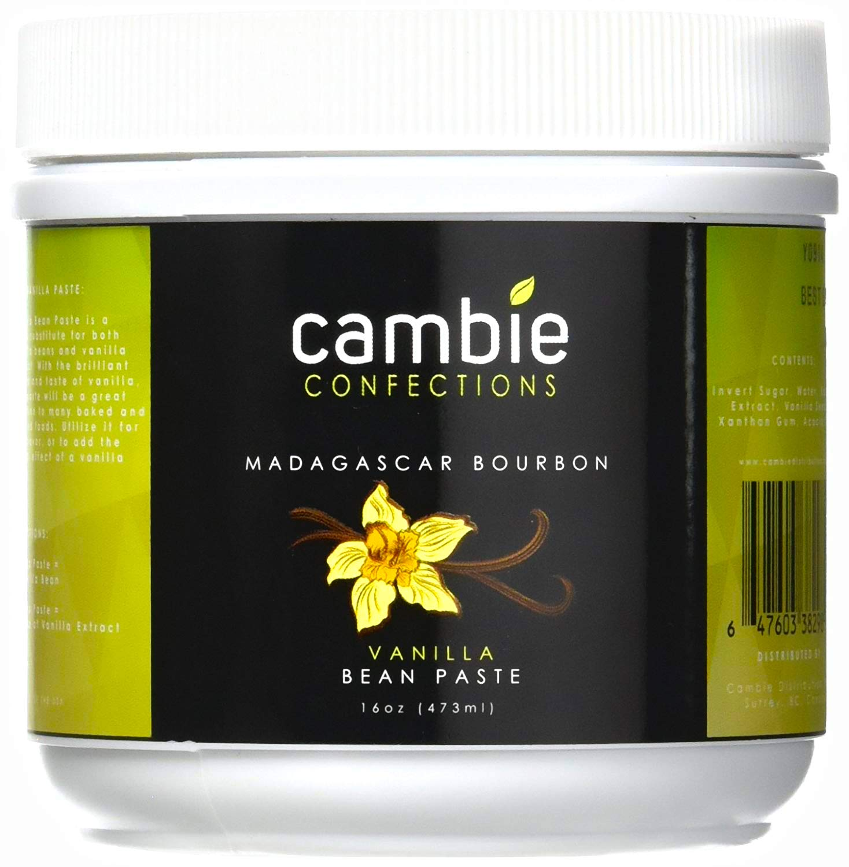 Cambie Confections Madagascar Bourbon Vanilla Bean Paste, 16 oz