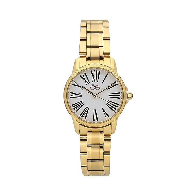 Reloj Clásico Con Sobria Construcción En Color Oro - Cloe: Amazon ...