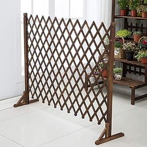 YQGOO Garden Fence,Garden Fence-Expanding Fence Garden Screen Trellis Style Expands to 1.2M Outdoor Decoration Guardrail 80 120cm