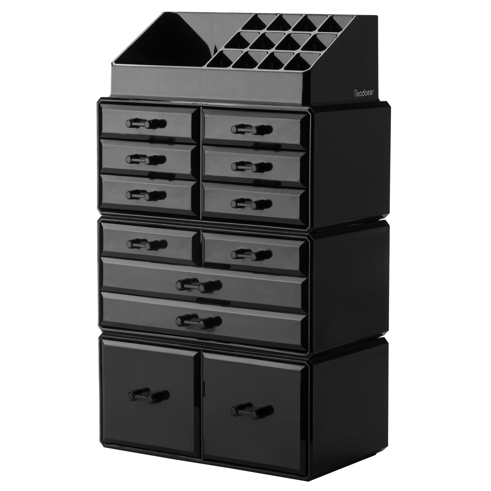 Details about Readaeer Makeup Cosmetic Organizer Storage Drawers Display  Boxes Case with 12
