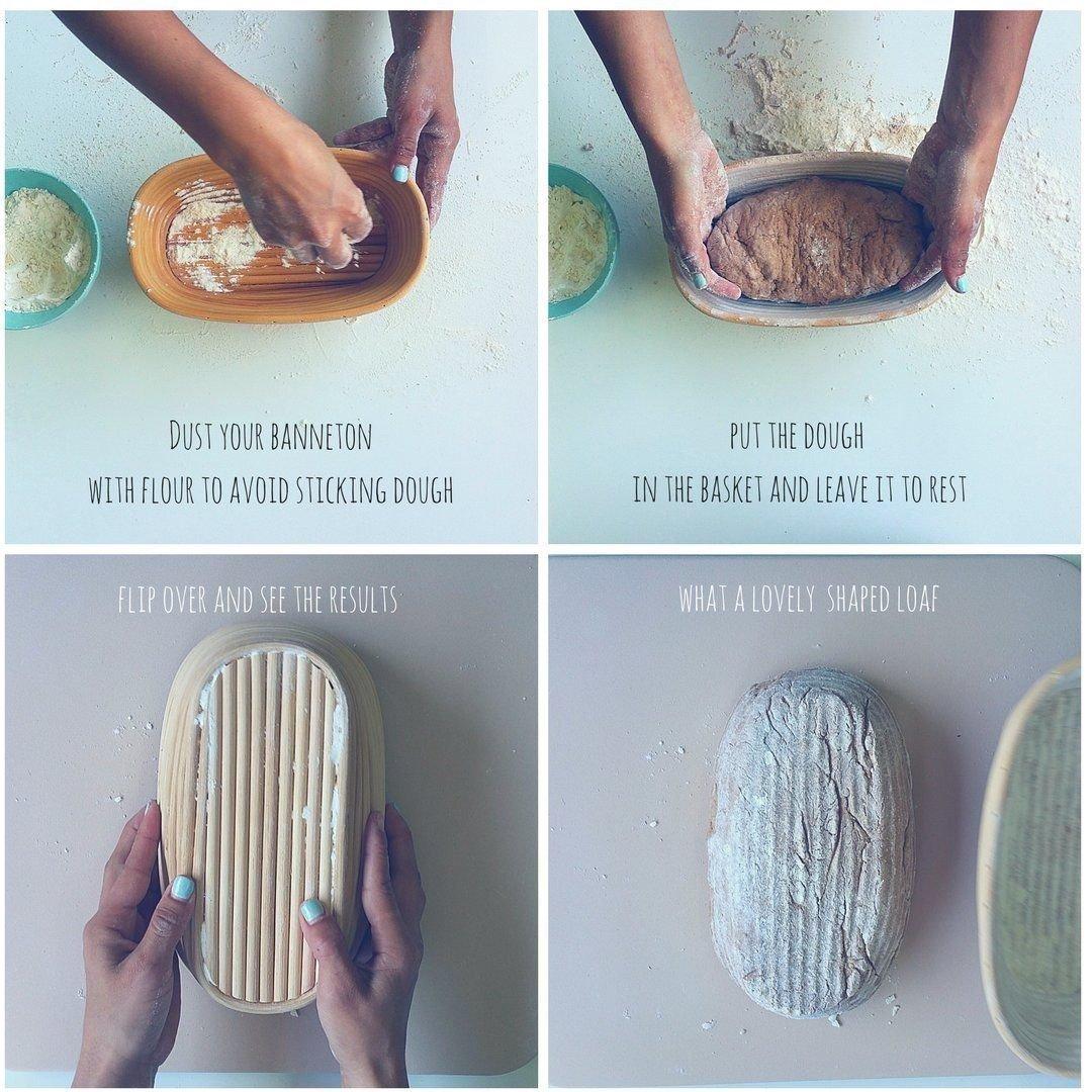Dgtek 22 inch Baguette Banneton Brotform Bread Proofing Basket Natural Rattan Cane Handmade & Linen Liner Cloth by Dgtek (Image #8)