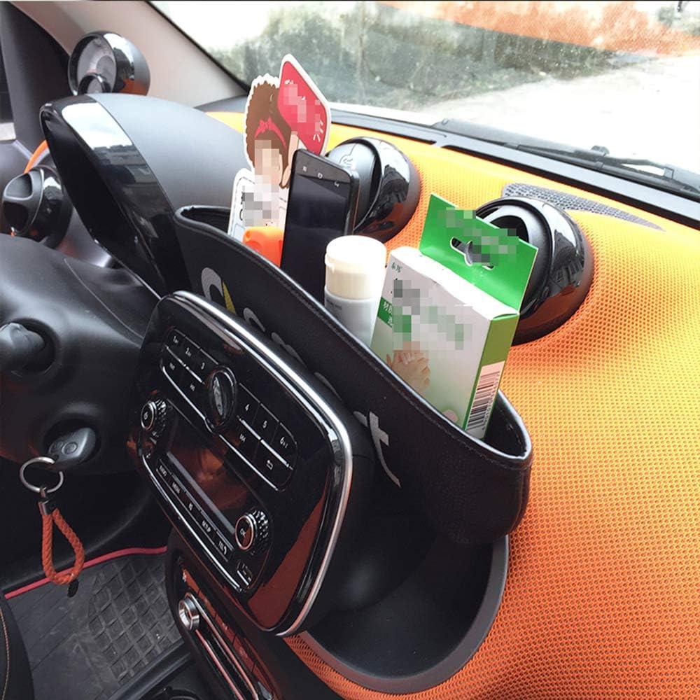WXQYR Cruscotto Anteriore in Pelle PU Scatola di immagazzinaggio Contenitore Contenitore per Smart 450 451 Smart 453 Fortwo Forfour 2009-2019