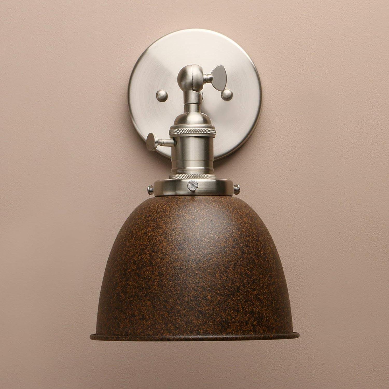 Industrielle Vintage Metall Licht Schatten Bar Küche Wandleuchte Wandleuchte Lampe Leuchte (rot) Imitation Rust