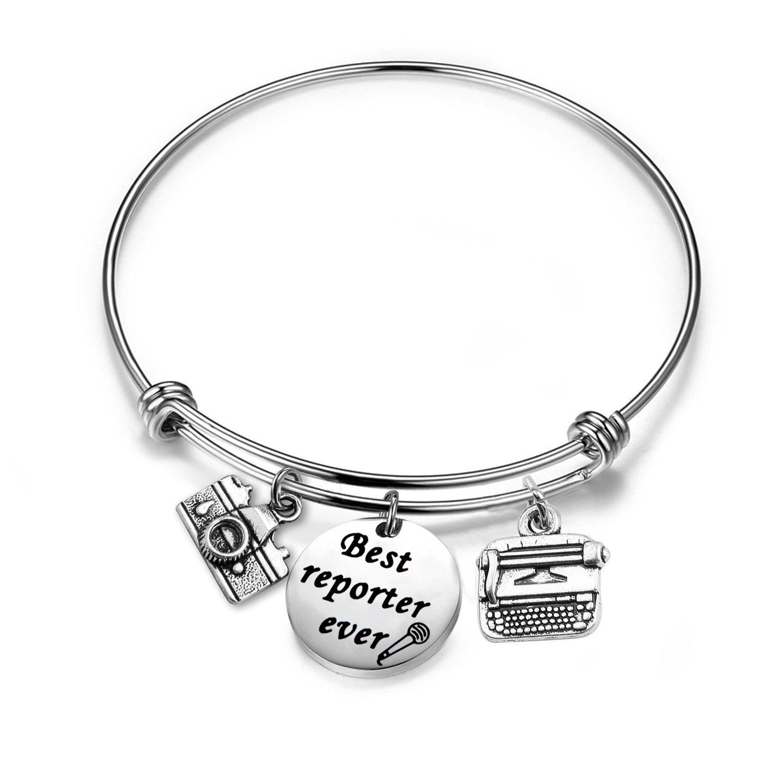 Gzrlyf Journalist Bracelet Reporter Bracelet Investigative Journalist Jewelry Journalist Graduation Gift Reporter Gift