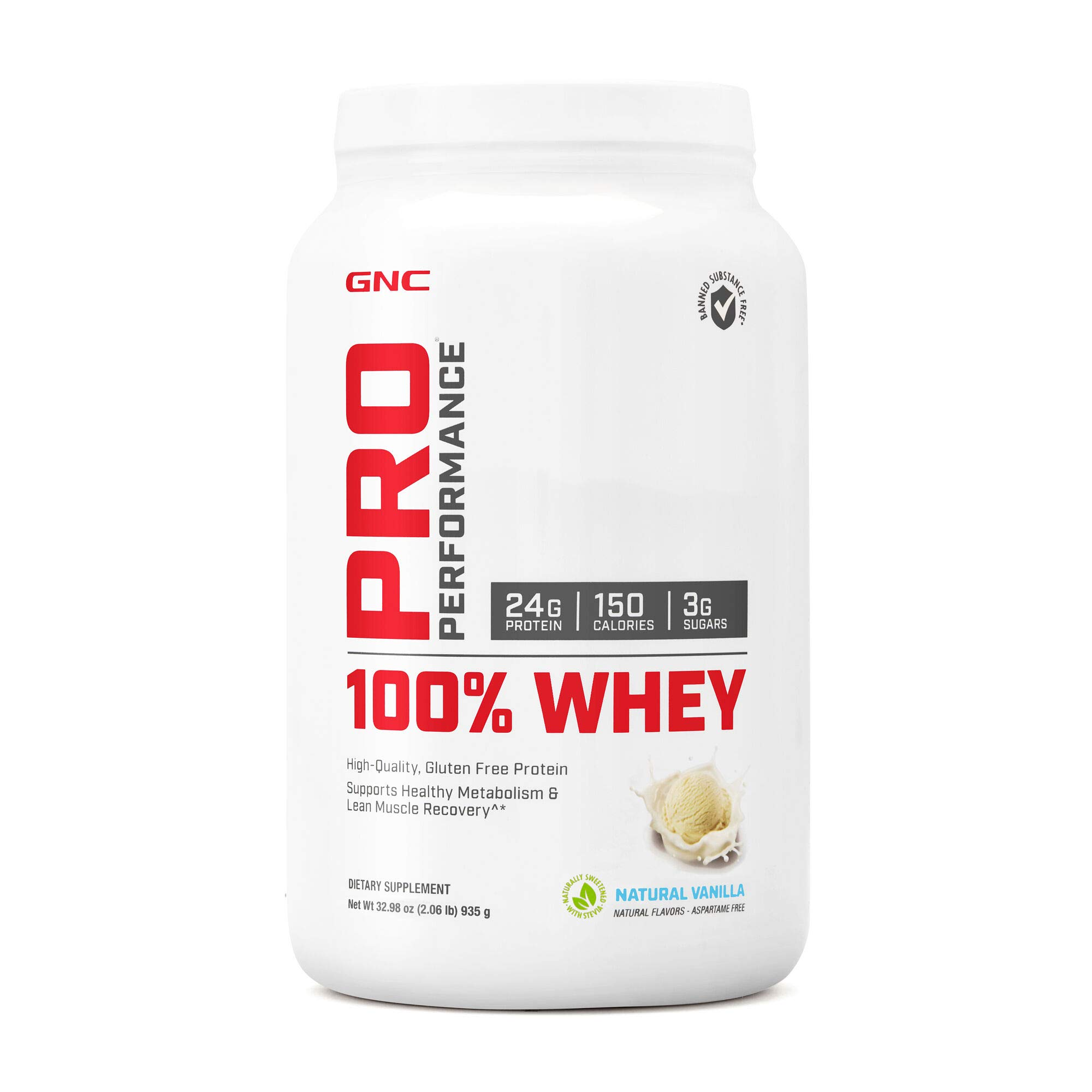 GNC Pro Performance 100 Whey Protein - Natural Vanilla 2.06 lbs. by GNC