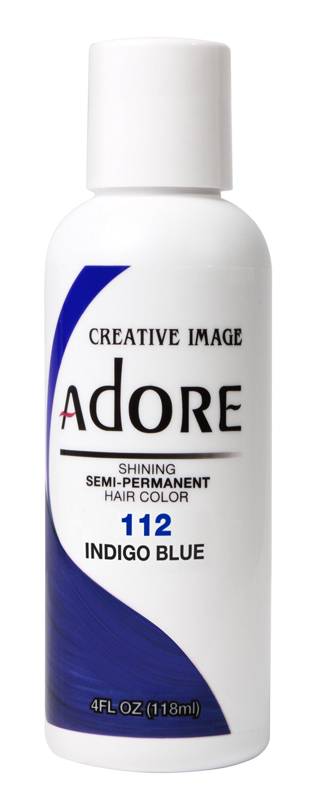 Adore Shining Semi Permanent Hair Colour, 112 Indigo Blue by Adore