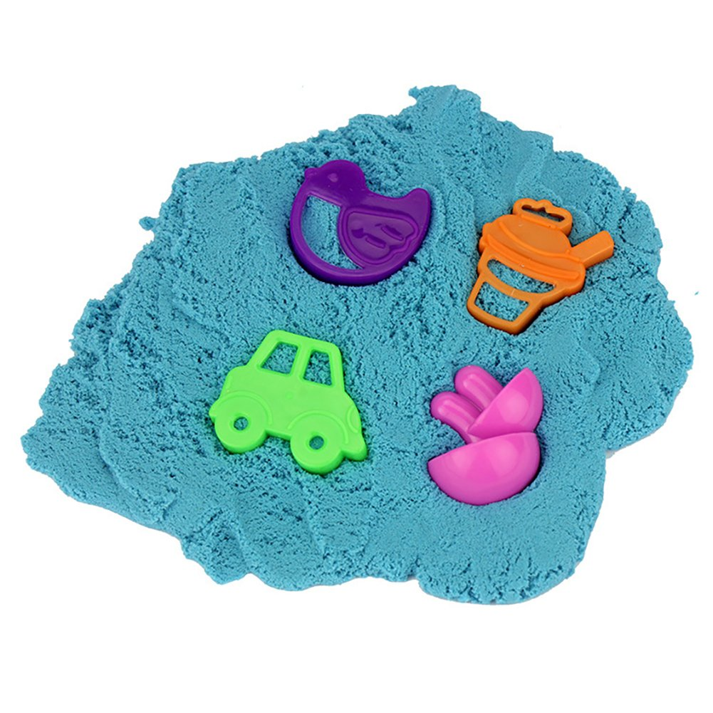 Faironly Play Sand with 4 Pcs Sand Mold Set Colored Sand Toy Gift for Children Random Color