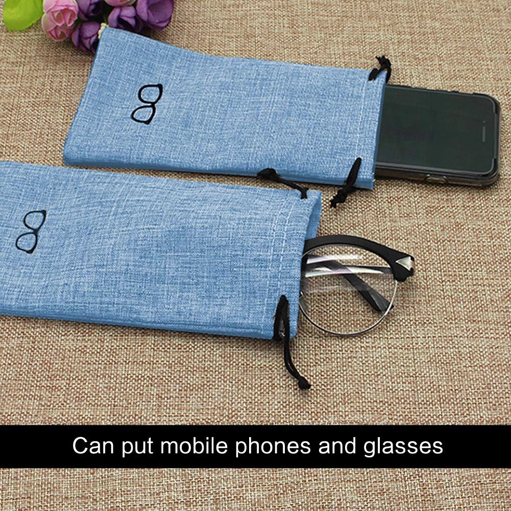 Blu Occhiali da Vista per Donna Ragazzi Ragazza con Custodia Protettiva per Occhiali Colore Casuale Custodia per Lenti a Contatto 4 Pezzi Custodia Occhiali Rigida Tovaglia per Occhiali
