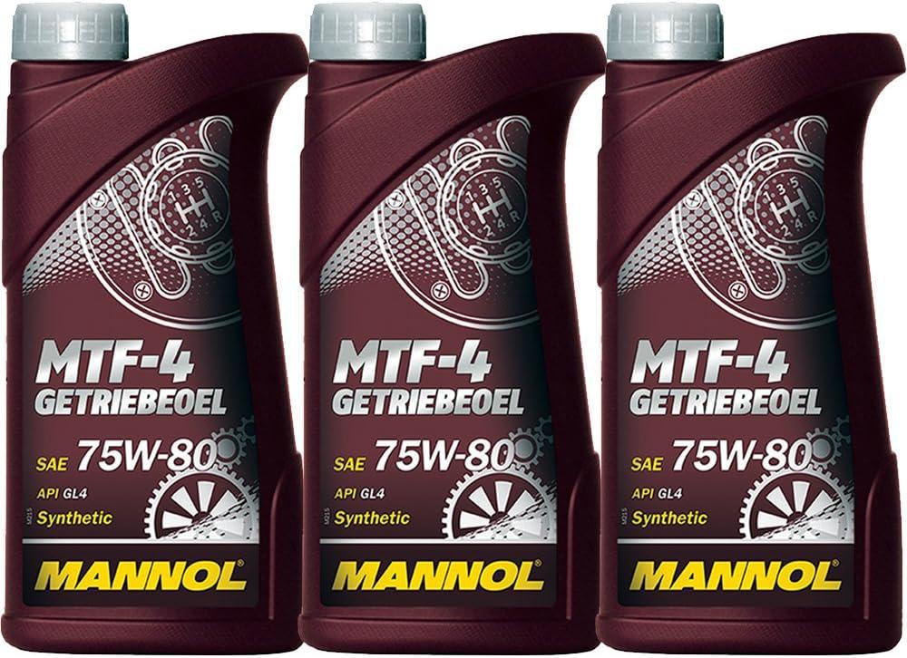 Mannol 3 X 1l 75w 80 Mtf Transmission Oil Gl 4 Manual Transmission Oil Mtf Lt 1 2 3 4 Auto