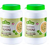 Mr. Sesame Seasoned Tahini 100% Pure Sesame No Preservatives, Non GMO, vegan Friendly, Gluten-Free, Kosher Tahini Paste, 16 OZ. 2 Pack