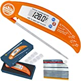 Instant Thermometer, RISEPRO Digital Instant Read Cooking Thermometer Foldable with BBQ Internal Temperature Chart For Kitchen Meat Beef Poultry EN301