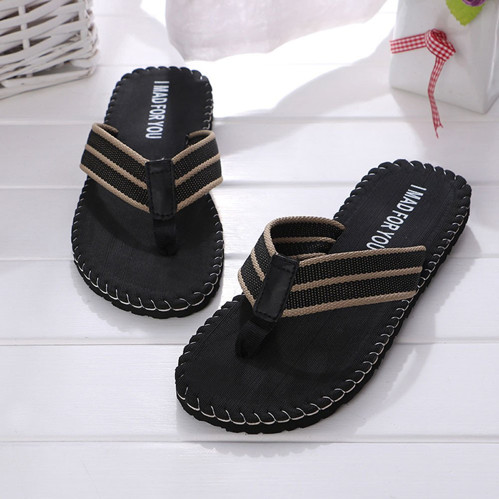 Casual Slippers WEUIE Mens Sandals Summer Beach Sandal Flats Shower Shoes Thong Flip Flops For Men